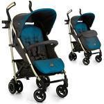 iCOO Pace hochwertiger Buggy bis 25 kg mit Liegefunktion ab Geburt, flach zusammenklappbar, leicht - aus Aluminium, Getränkehalter, großer Korb - Blau