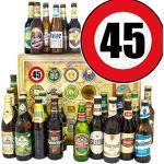 Idee 45. Geburtstag Mann/Bier Paket Welt und DE/Geschenk 45 Geburtstag/Adventskalender mit Bier