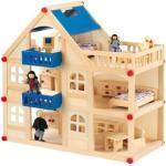 idee+spiel 57121 EMILO Großes Holz-Puppenhaus