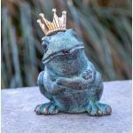 IDYL Gartenfigur » Bronze-Skulptur Froschkönig«, Bronze – sehr robust – Langlebig – witterungsbeständig gegen Frost