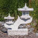 IDYL Gartenfigur »Granit Rankei 2-armig«, Granit – ein Naturprodukt – sehr robust – witterungsbeständig gegen Frost, Regen und UV-Strahlung.