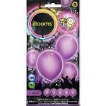 Illooms 33966 - Ballon, 5-er Pack, lila