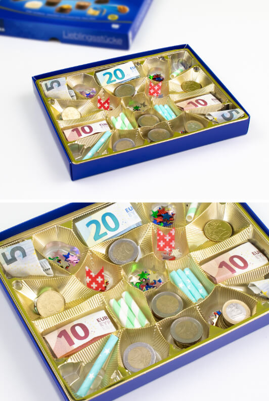 Verpacken geldgeschenk münzen Geldgeschenke verpacken: