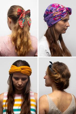 Frisuren mit Haartüchern