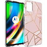 iMoshion Design Hülle für das Motorola Moto G9 Plus - Grafik-Kupfer - Rosa / Gold