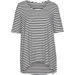 IMPERIAL Rundhalspullover »IMP by Ringel-Shirt maritimes Damen Kurzarm-Shirt Vokuhila Sommer-Shirt Marine/Weiß«