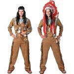 Indianer Lachender Wolf Herrenkostüm - braun