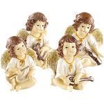 infactory Engel: Deko-Weihnachtsengel mit Musikinstrumenten im 4er-Set (Weihnachtsengel Deko Figuren)