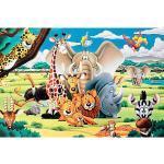 """infactory Leucht Puzzles: 500-teiliges Glow-in-the-dark-Puzzle """"Tierwelt"""""""