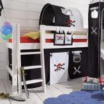 Infanskids Vorhang Spielhöhle 4-teilig für halbhohe Betten Pirat 902-33