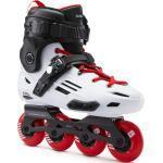 Inline-Skates Freeride MF500 Hardboot Damen/Herren weiss/rot