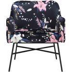 INOSIGN Loungesessel Frija, mit schwarzem Metallgestell, in verschiedenen Stoff- und Farbvarianten erhältlich, Sitzhöhe 43 cm blau Sessel