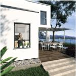 Insektenschutz-Rollo-Fenster PLUS ohne Bohren anthrazit 100x160 cm
