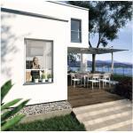 Insektenschutz-Rollo-Fenster PLUS ohne Bohren weiss 160x160 cm