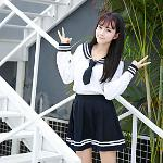 Inspiriert von Cosplay Schulmädchen Anime Cosplay Kostüme Japanisch Cosplay-Anzüge Schuluniformen Röcke oben Schleife Für Damen / Fliege Lightinthebox