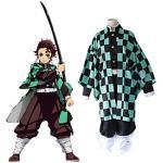 Inspiriert von Dämonentöter: Kimetsu no Yaiba Kamado Tanjirou Anime Cosplay Kostüme Japanisch Cosplay-Anzüge oben Hosen Umhang Für Damen Herren / Knieschützer Lightinthebox