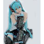Inspiriert von Freund Vocaloid Video Spiel Cosplay Kostüme Patchwork / Anime Cosplay-Anzüge Bluse Rock Ärmel Ärmellos Kostüme / Krawatte / Gürtel / Strümpfe Lightinthebox