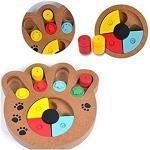 Interestmaker Intelligenzspielzeug für Hunde, Katzen, interaktives Spielzeug zum Verstecken und Suchen von Lebensmitteln, behandeltes Holz
