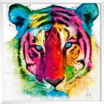 International Graphics Wandbild 30 x cm Tiger Pop Bunt