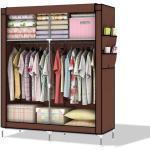 Intirilife Kleiderschrank » Faltschrank 108x170x45 cm DIY Stoff Kleider Schrank« Faltschrank 108x170x45 cm, braun, Braun