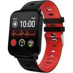 IP68 wasserdichte Fitness Armbanduhr Smartwatch Farbbildschirm Touchscreen Blutdruck Herzfrequenz Schlafüberwachung Schrittzähler Stoppuhr