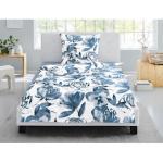 Blaue IRISETTE Bettwäsche maschinenwaschbar
