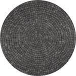 Isla - Filzkugelteppich rund, Ø160 cm, Schwarz/Grau