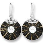 ISLAND PIERCINGS Edle 925er Silber und Muschel Ohrringe Hänger Design Handarbeit SER043