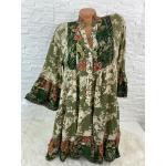 Italy Hippie Ibiza Boho Hängerchen Tunika Kleid Gr. 36 38 40 42 Neu K-270