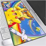 ITBT Mauspad Pokemon XXL Gaming Mauspad, 900x400mm Anime Mousepad, Höchstmaß an Präzision, extra stark vernähter Rand, gummierte Unterseite, Desktop Computer, A