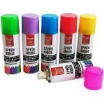 itsisa 6X Bunte Sprühkreide, abwaschbar - buntes Markierungsspray, Kreidespray, Graffiti Farbe