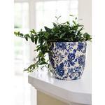 Ivyline Blumentopf, Keramik, Cremefarben/Pink/Blau, 16 cm