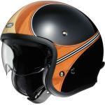 J.O Waimea TC-10 schwarz orange Open Face Helm Jethelm Motorradhelm, S S TC-10 Beige/Orange