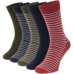 Jack & Jones 5-er Set Socken Rot, Olivgrün und Dunkelblau