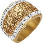 Jacques Lemans Ring »Edelstahl vergoldet«, gelb, gelb