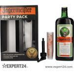 Jägermeister Party Pack 35% Vol. 1,75l in Geschenkbox mit 20 Shotgläsern und Handpumpe