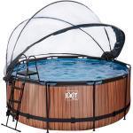 JAKO-O EXIT Pool Holzoptik mit Sonnendach, braun