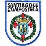 Jakobsweg [Bewahrer] Aufnäher/Aufbügler Wappen Santiago de Compostela