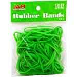 JAM PAPER Farbige Gummibänder - #33 Größe - Grüne Gummibänder - 100/Packung