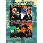 James Bond 007 Minze Briefmarkenbogen für Sammler mit Stills aus alten James Bond Filme/Somalia / 2004
