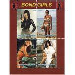 James Bond weibliche Charaktere in einem Blatt mit 4 Briefmarken, postfrisch, Benin 2014