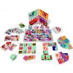 Janod Multi Spielesammlung Quartett Domino Würfel Memory Kartenspiel J02973