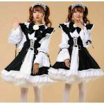 Japanisch Maid Outfits Kellnerin Kostüm Kawaii Lolita Kleid Cosplay Uniform NR9