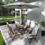 Jardi Auflage für Klappstuhl Garden Basic 2er-Set Weiß 47x8x116 cm (BxHxT) Webstoff