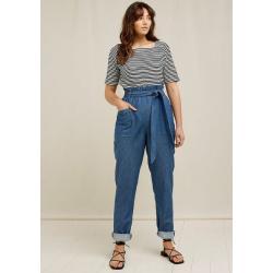 Blaue Nachhaltige People Tree Bio Mom-Jeans & Karottenjeans für Damen für den Sommer