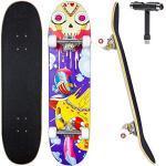 JECOLOS Pro Skateboard Skateboard, 78,7 x 20,3 cm, Skateboard, Ahornholz, Longboards für Erwachsene, Teenager, Jugendliche, Anfänger, Mädchen, Jungen, Kinder (Desire)