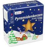JEKA Kerzen PK 18/100 Pyramidenkerzen (18 Stück/Pack) groß Natur Größe ca. 17 x 105 mm