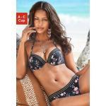 JETTE Push-Up-Bikini mit goldenem Lurexfaden