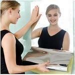 Jiechang Flexible Spiegel für Wand, selbstklebende Spiegelfliesen, kein Glas, weiches Spiegelpapier für Heimdekoration