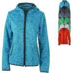 JN588 James+Nicholson Ladies' Knitted Fleece Hoody